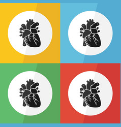 Heart icon flat design vector