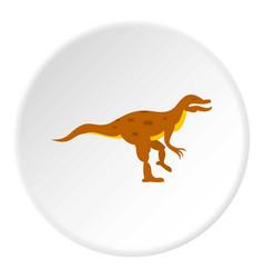 Ornithopod dinosaur icon circle vector