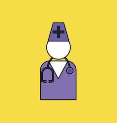 flat icon design collection doctor silhouette vector image