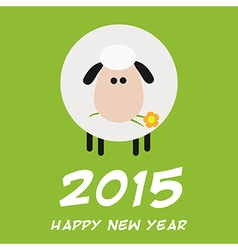 2015 New Year Background with a Sheep Design vector image