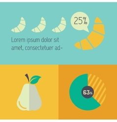 Food infographic element vector