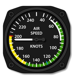 Aviation aircraft airspeed indicator vector