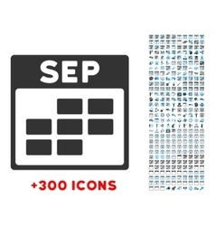 September flat icon vector