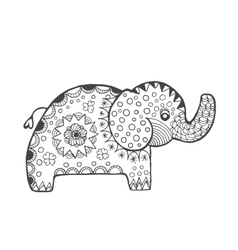 Zentangle stylized fantasy elephant vector