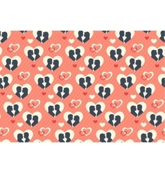 Seamless festive pattern with love couple and vector