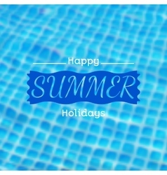 Blurred background with swimming pool vector