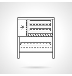 Bakery stove flat line icon vector image vector image
