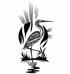 black heron vector image