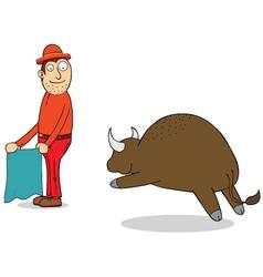 Challenging buffalo vector