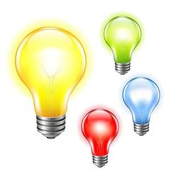 Color bulbs set vector