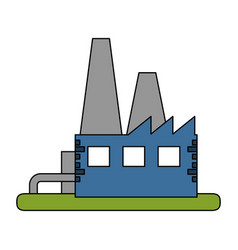 Color image building industrial factory vector