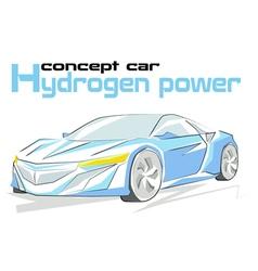 Concept car hydrogen power vector image
