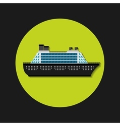Cruise ship transport icon vector