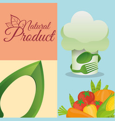 Food kitchen natural product poster vector