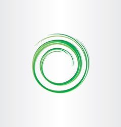 green spiral symbol vector image