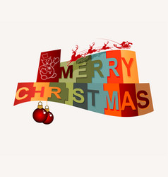 Happy christmas text vector