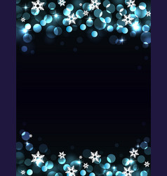 Holiday silver-blue background vector