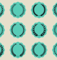 Labels with laurel wreaths vector image