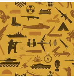 Military background Seamless pattern Military vector image vector image