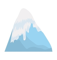 Mountain icon nature landscape culture vector