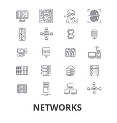networks people computer connect social vector image