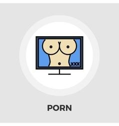 Pornography icon flat vector image