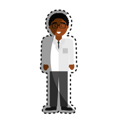Professional doctor specialist with glasses vector