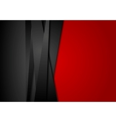 Red and black abstract striped background vector
