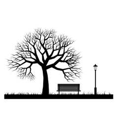 Silhouettes of park vector image