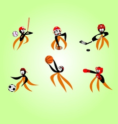 sports octopus vector image