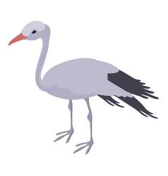 Stork icon isometric style vector