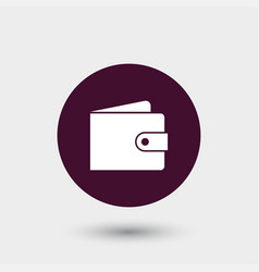 wallet icon simple vector image
