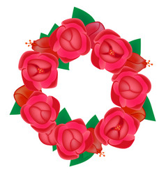 Wreath flowers vector