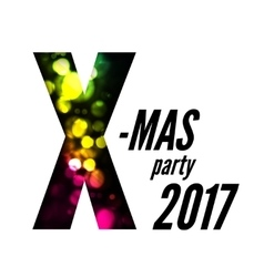 X-mas party with bokeh vector
