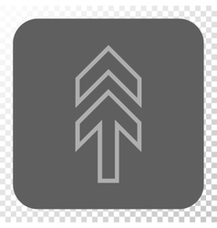 Direction up rounded square button vector