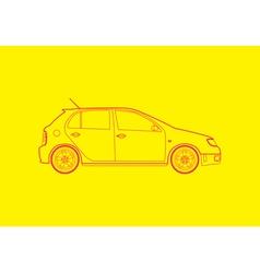 Hatchback car vector image