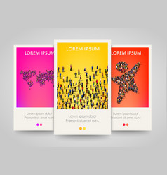 modern colorful vertical people motive banners vector image