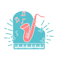 Concept of jazz music vector