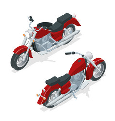 Isometric motorcycle or motorbike isolated on vector