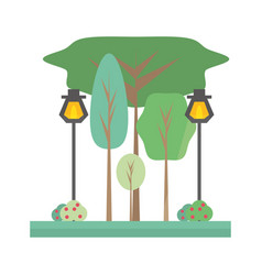 park scenery view vector image