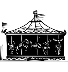 Death carousel vector