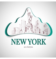 New york city emblem vector
