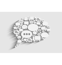Creative bubble speech vector