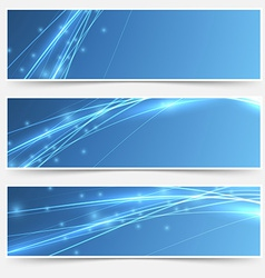 Speed swoosh electric wave lines header set vector