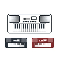 Synthesizer icons set vector