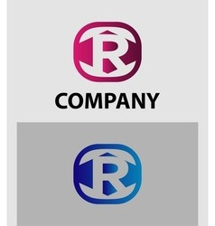 An attractive letter r logo symbol vector