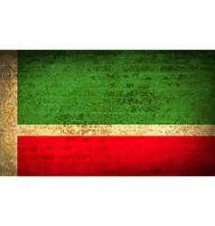 Flags chechen republic with dirty paper texture vector
