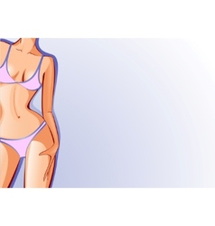 Female body swimsuit vector