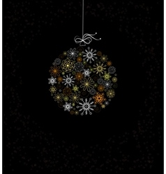 Christmas decoration with bauble vector