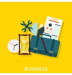 Business icon concept flat design vector